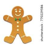 gingerbread man icon vector... | Shutterstock .eps vector #770229586