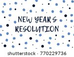 new year greeting card with... | Shutterstock .eps vector #770229736