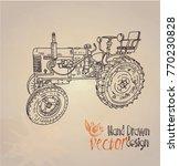 tractor. vintage. vector   Shutterstock .eps vector #770230828