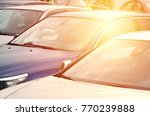 roofs of several cars. a lot of ...   Shutterstock . vector #770239888