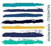 brush strokes set backgrounds.... | Shutterstock .eps vector #770244796