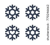 snowflakes signs set. black... | Shutterstock . vector #770246662