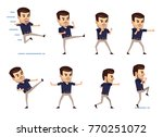 set of stylish businessman... | Shutterstock .eps vector #770251072