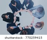 group of business people... | Shutterstock . vector #770259415