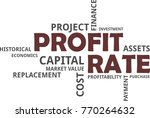 a word cloud of profit rate... | Shutterstock .eps vector #770264632