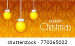 vector illustration of a banner ... | Shutterstock .eps vector #770265022