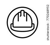 construction   hard hat  | Shutterstock .eps vector #770268952