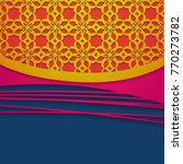 colorful background with cutout ...   Shutterstock .eps vector #770273782
