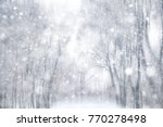 Winter snow background  ...