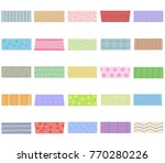 vector illustration set of cute ...   Shutterstock .eps vector #770280226