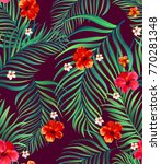 seamless tropical pattern....   Shutterstock .eps vector #770281348