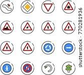 line vector icon set  ... | Shutterstock .eps vector #770281936
