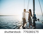 a young guy with a beautiful... | Shutterstock . vector #770283175