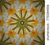 abstract flower graphic vector... | Shutterstock .eps vector #770284006