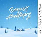 vector illustration  winter... | Shutterstock .eps vector #770289262