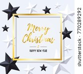 merry christmas and happy new... | Shutterstock .eps vector #770289292