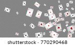 playing cards falling on... | Shutterstock .eps vector #770290468