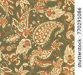 paisley vector seamless pattern....   Shutterstock .eps vector #770291086