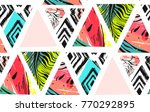 hand drawn vector abstract... | Shutterstock .eps vector #770292895