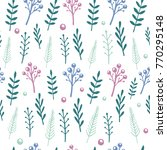 vector floral pattern with... | Shutterstock .eps vector #770295148