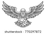an eagle cartoon character... | Shutterstock .eps vector #770297872