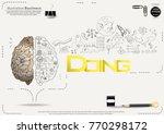 brain   pencil sketch   icon... | Shutterstock .eps vector #770298172