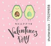 romantic postcard for valentine'... | Shutterstock .eps vector #770299858