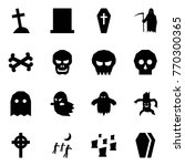 origami style icon set   grave...   Shutterstock .eps vector #770300365