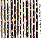 cute seamless pattern with pink ... | Shutterstock .eps vector #770301832