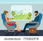 passenger young beautiful girl... | Shutterstock .eps vector #770302978