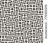 vector seamless black and white ... | Shutterstock .eps vector #770303296
