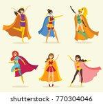 vector illustration in flat... | Shutterstock .eps vector #770304046