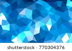 low poly background blue color | Shutterstock .eps vector #770304376