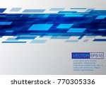 abstract blue background. eps10 ... | Shutterstock .eps vector #770305336
