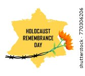 holocaust remembrance day.... | Shutterstock .eps vector #770306206