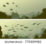 set of horizontal wide banners... | Shutterstock .eps vector #770309482