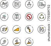 line vector icon set   passport ...   Shutterstock .eps vector #770309752