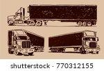 american semi trailer truck...   Shutterstock .eps vector #770312155