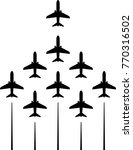 airplane flying formation  air...   Shutterstock .eps vector #770316502