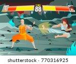 fighting video game screen | Shutterstock .eps vector #770316925