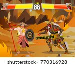 fighting video game screen   Shutterstock .eps vector #770316928