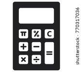 calculator icon  flat design... | Shutterstock .eps vector #770317036
