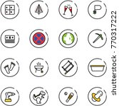 line vector icon set   baggage... | Shutterstock .eps vector #770317222