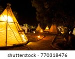 native american indian tent at... | Shutterstock . vector #770318476