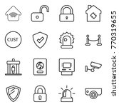 thin line icon set   wireless... | Shutterstock .eps vector #770319655