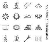 thin line icon set   perishable ... | Shutterstock .eps vector #770319772