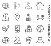 thin line icon set   globe ... | Shutterstock .eps vector #770325022