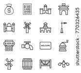 thin line icon set   money bag  ... | Shutterstock .eps vector #770326435