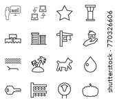 thin line icon set  ...   Shutterstock .eps vector #770326606