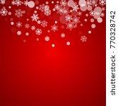 christmas border with white...   Shutterstock .eps vector #770328742